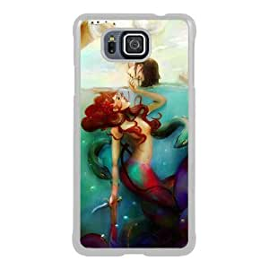 Popular Sale Samsung Galaxy Alpha Case,The Little Mermaid disney princess White Customized Picture Design Samsung Galaxy Alpha Phone Case