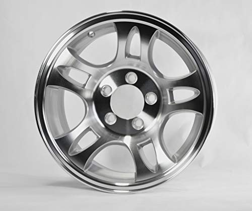 (2-Pack Aluminum Trailer Rims Wheels 5 Lug 14 in. T03 Split-Spoke Style)