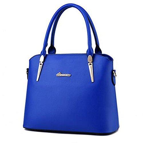 de En Cuir Femmes Pièces Mode Bleu Sacs Des Sac Epaule a La Main Sac Newbestyle 3 Monnaie Femme Porte XTv4Iwq