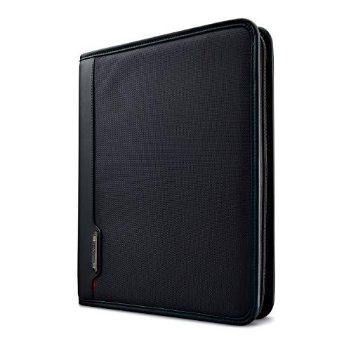 Samsonite Xenon Business Zip Portfolio Briefcase, Black, One Size (Brief With Case Binder)