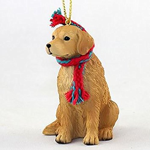 (Golden Retriever with Scarf Christmas Ornament (Large 3 inch version) Dog)