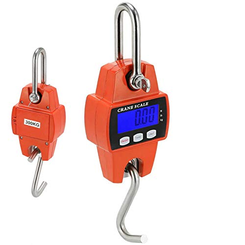 High Capacity Crane Scale - 300KG / 660LBS Mini Digital Crane Scale, MOCCO High Performance Portable Safety Hanging Scale with Large LCD Display
