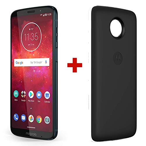 (Motorola Z3 Play & Moto Power Pack - Unlocked (AT&T/Sprint/T-Mobile/Verizon) - 64GB - Deep Indigo (US Warranty) - PA9S0000US)