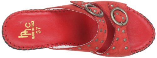 Hans Herrmann Collection HHC - Zuecos de cuero mujer rojo - Rot (rot)
