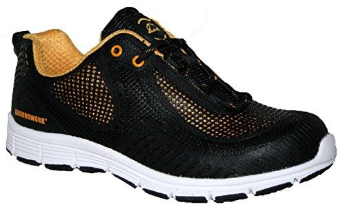 Groundwork ,  Herren Sneaker Low-Tops Schwarz / Gelb