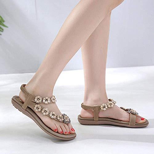 Pour Thong D'été Chaussures Bling Personnalisé Kaki Slingback Diamante Bohème Plage Femmes De 9 Fleur Mariage 2 Taille Glitter Les Tongs Qiusa Toepost Sandales Cristal xTwSIqHy