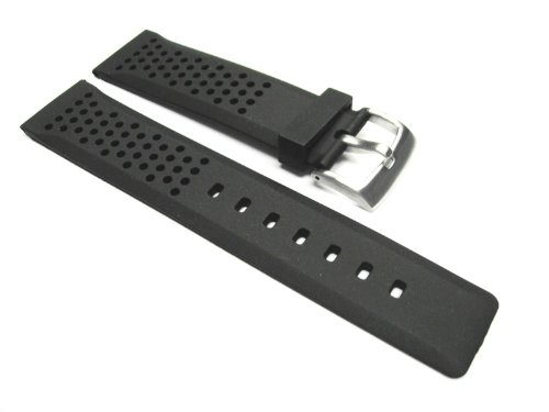22mm Rubber Watch Strap for Tag Heuer Carrera Ft6700 Bk 15r