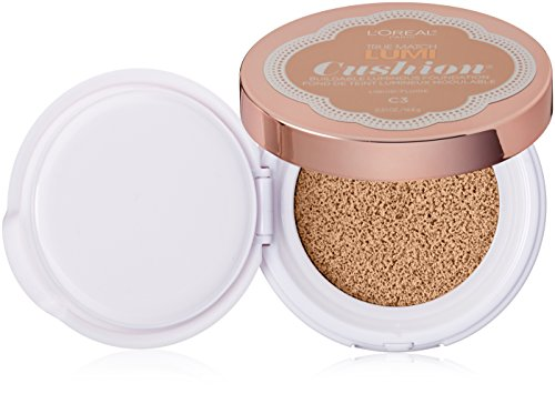 L'Oréal Paris True Match Lumi Cushion Foundation, C3 Creamy Natural, 0.51 oz.