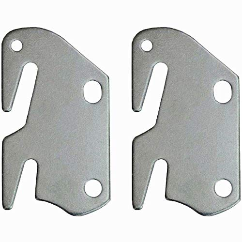 CAFORO #10 Hook Plates for Wooden Beds Frame Bracket Headboard Footboard Replacement Wooden Bed Parts or New Bed Constructions - Set of 2