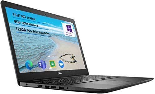 2021 Newest Dell Inspiron 15 3000 Laptop, 15.6 HD Display, Intel Celeron N4020 Processor 8GB RAM, 128GB SSD, Online Meeting, Business and Student Webcam, Black, Windows 10 Pro