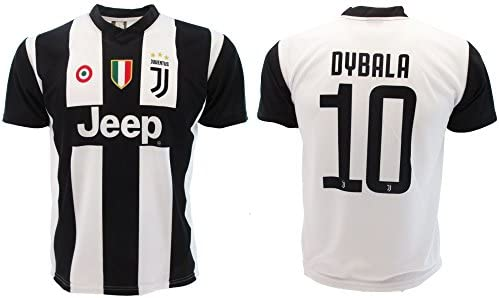 another chance 7d2c6 bef49 Soccer Football T-Shirt PAULO DYBALA 10 Juventus HOME Season 2018-2019  Official REPLICA with LICENSE - All The Sizes BOY and ADULT