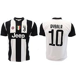 T-Shirt Maillot de Football Paulo Dybala 10 Juventus Nouveau Saison 2018-2019 Replica Officiel avec Licence - Tous Les Tailles Enfants et Adultes