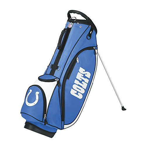 Indianapolis Colts Golf Cart Bag (Wilson NFL Indianapolis Colts Carry Golf Bag, Blue/White, One Size)