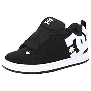 DC Men's Court Graffik Skateboarding Shoe, Black, 18 D D US