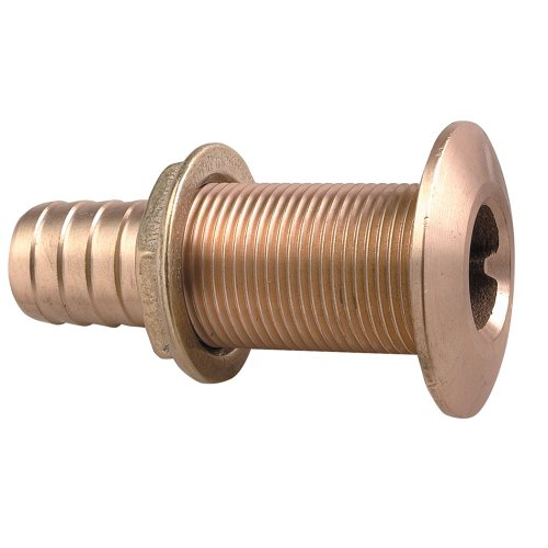Perko 0350008DPP Plain Bronze Thru-Hull Connection for Use with Hose - 1-1/2