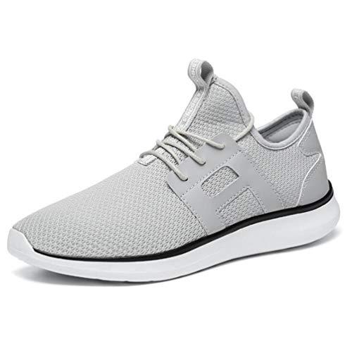 Sport Chaussures Homme Sneakers De Basket Athlétique Respirantes Fitness Basses Gris Running Mogeek OEvqxwYdq