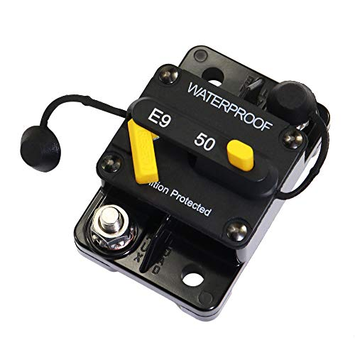 Marine Circuit Breaker 50Amp for Boat Trolling with Manual Reset,Water Proof,12V- 48V DC