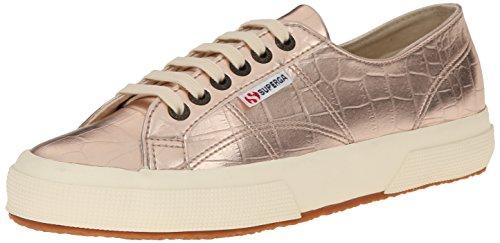 Superga Women's 2750 Metcrocw Fashion Sneaker, Rose Gold, 41.5 EU/10 M US