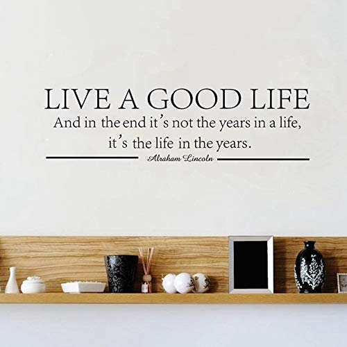 WWYJN Live A Good Life - Abraham Lincoln Quote Vinyl Wall Decal Stickers Inspirational Blue 150x50 cm: Amazon.es: Hogar