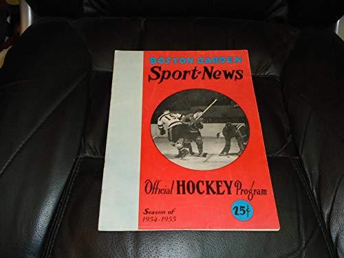 1954 1955 MONTREAL CANADIENS AT BOSTON BRUINS NHL HOCKEY PROGRAM EX ()