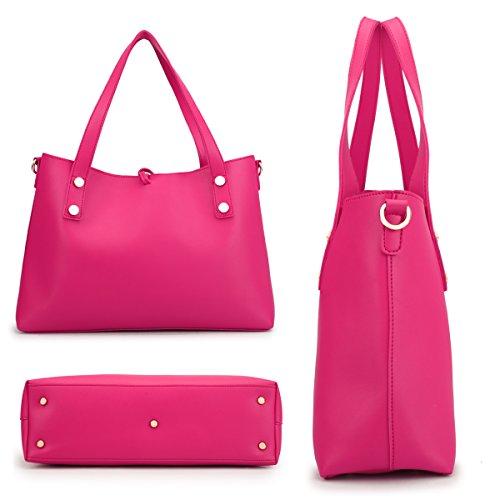 2 2 3392 Shoulder Pieces Women Bag Set gold Crossbody Satchel Hobo in 1 Purse Leather Handbag PwHHWn5TqA