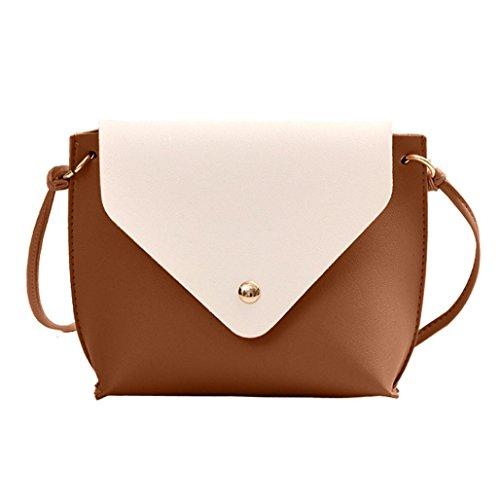 Fashion Crossbody Tote Bag Shoulder School Brown Brown Messenger Bag