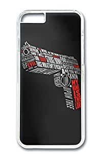 iPhone 6 Case, Custom Design Covers for iPhone 6 PC Transparent Case - Gun Shoot