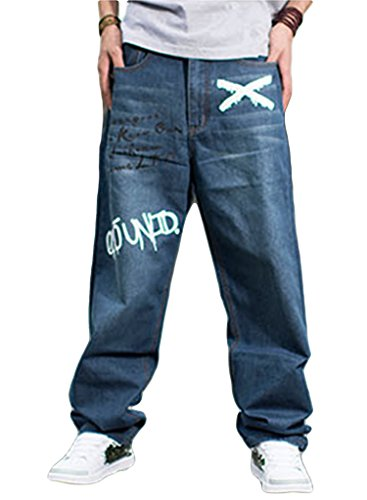 Sexyggs Fashion Fat Men's Plus Size Jeans Trousers Loose Skateboard Pants