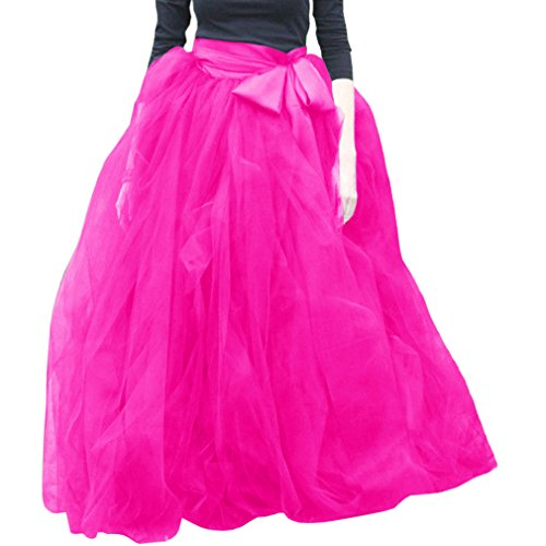 Hot Robe Tutu A jupes Line Pink volants Femme Soire Wdpl Tulle UR1zq