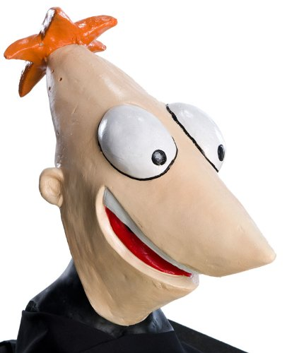 Disney Phineas and  Ferb Overhead Latex Mask, Phineas -