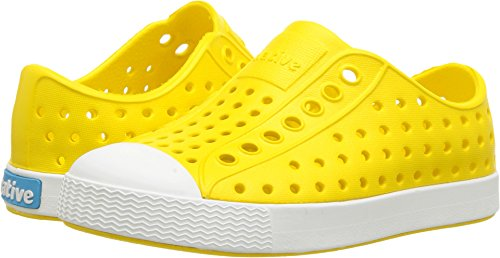 Native unisex-baby Jefferson Child Water Proof Shoes, Crayon Yellow/Shell White, 9 Medium US Toddler