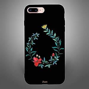 iPhone 8 Plus Black Flower Bee