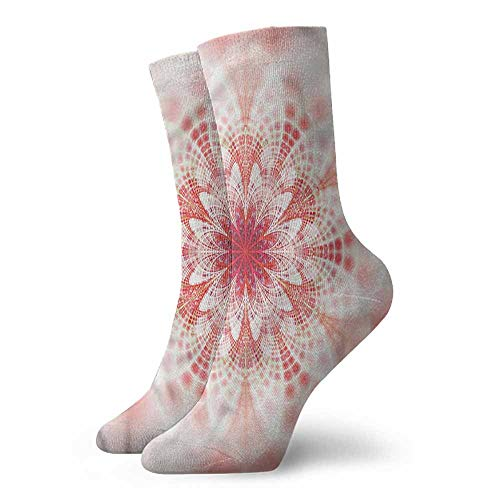 - socks free size Pale Pink,Fractal Fantasy Mandala 3.4