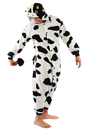SAZAC Cow Kigurumi Onesie Jumpsuit Costume - Regular Adult One-Size-Fits-All -