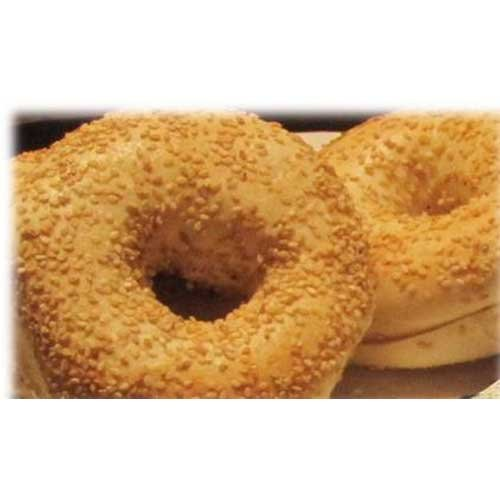 Burry Foodservice Thaw and Sell Sliced Sesame Seed Bagel, 4 Ounce - 36 per case.