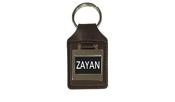 Zayan Leather Keyring Birthday Name Optional Engraving