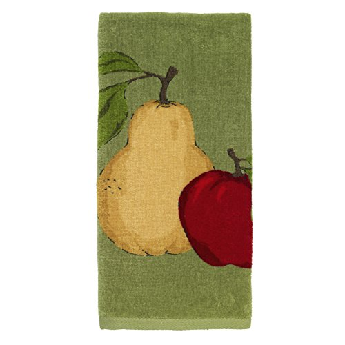 All-Clad Textiles 100-percent Cotton Fiber Reactive Apple and Pear Print Kitchen Towel, 17-inch x 30-inch, Sage Green