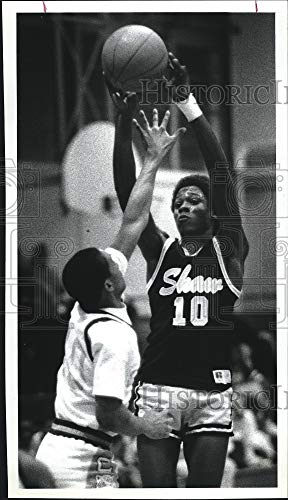 Vintage Photos 1988 Press Photo Carter HS Basketball Player, Tommy Mullins in Ga.