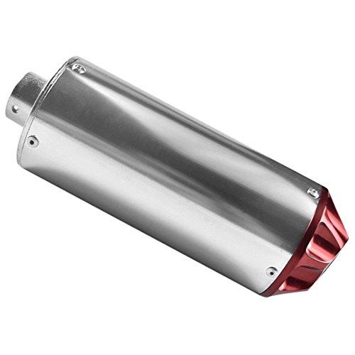 ZXTDR 28mm Exhaust Muffler For Dirt Pit Trail Bike 50cc 70cc 90cc 110cc 125cc CRF50 XR50 KLX SSR (Red) - Fmf Atv Silencer