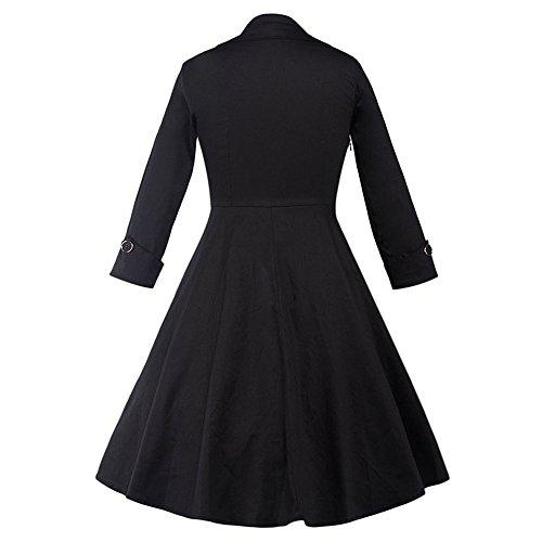JOTHIN 50er Retro Damen Langarm Bodycon Cocktailkleid für Frauen Rockabilly Kleid Pin-up/Ballkleid 1605 qZIvy1ap