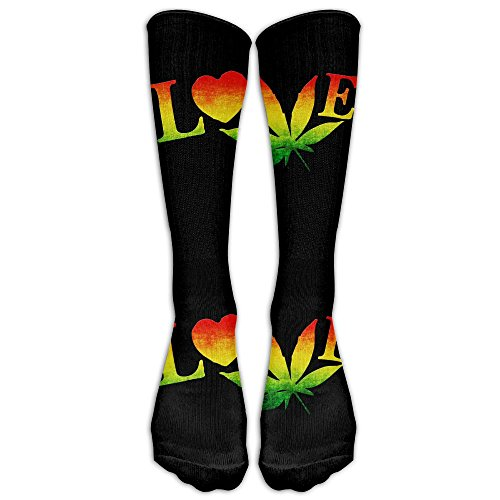 Love Pot (Love Pot Weed Pot Leaf Unisex Knee High Sports Socks Stockings Athletic Socks Baseball/Soccer)