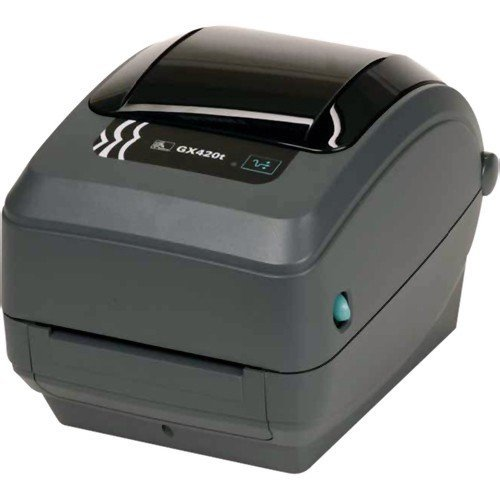 (Zebra - GX420t Thermal Transfer Desktop Printer for Labels, Receipts, Barcodes, Tags, and Wrist Bands - Print Width of 4 in - USB, Serial, and Ethernet Port Connectivity)