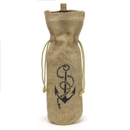 Hortense B. Hewitt Burlap Wine Bag, Anchor (Burlap Wine Bottle Bags compare prices)
