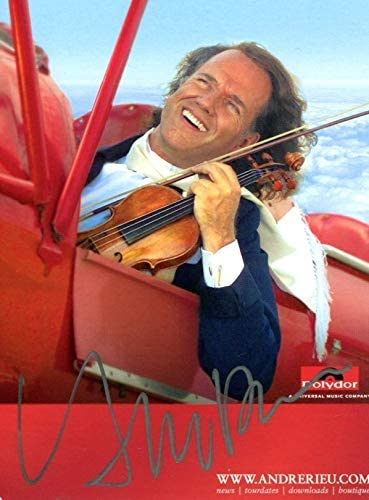 Andre Rieu VIOLINIST and CONDUCTOR autograph, signed promo photo