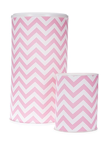 Glenna Jean Hamper and West Basket, Pink Chevron by Glenna Jean