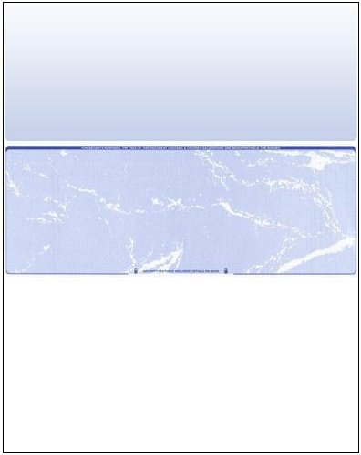 2500 Blank Check Stock - Check in Middle - Blue Marble by Compuchecks
