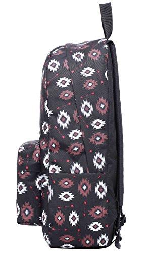 SIMPLAY Mochila Escolar Clásico | 44x30x12,5cm | Estampada de moda | Flor D203J, Tribal azteca