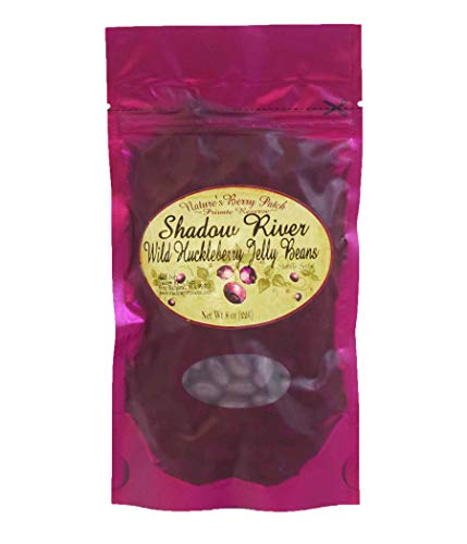 Shadow River Gourmet Wild Huckleberry Jelly Beans Classic Purple Candy – 8 oz
