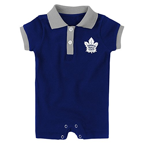 to Maple Leafs Newborn & Infant Prepster Polo Romper, Dark Blue, 24 Months ()