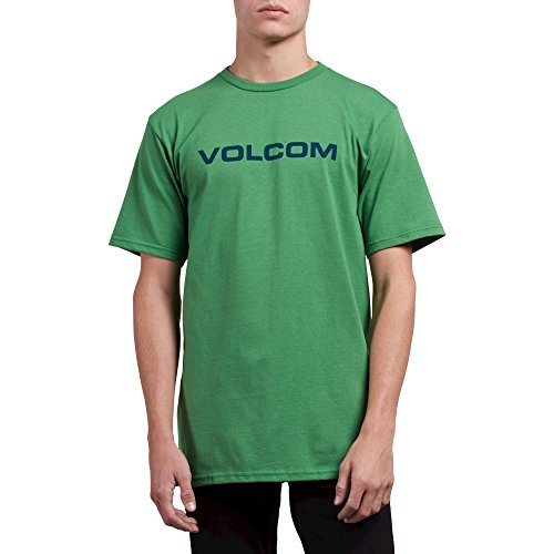 (Volcom Men's Crisp Euro Short Sleeve Basic Fit Tee, Dark Kelly, Small)